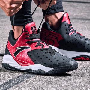 安踏男鞋篮球鞋秋季2018新款高帮减震防滑耐磨运动鞋训练篮球战靴男91731101