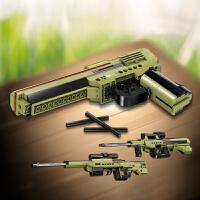 启蒙积木兼容乐高玩具 3合1绝地武器创意3变形态沙漠之鹰/AUG突击步枪/AWM步枪6岁+