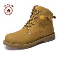 骆驼牌 冬季马丁靴男英伦男靴黄靴子工装军靴短靴沙漠