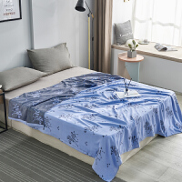 夏季纯棉毛巾被双层纱布午睡毯子柔软透气单双人床单空调凉被薄款