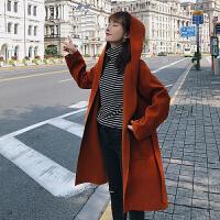 白领公社 风衣 女秋冬新款时尚韩版时尚长袖上衣女式西装领中长款纯色学生大衣外套