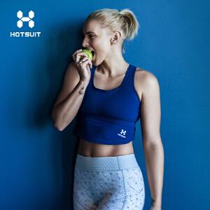 美国HOTSUIT运动文胸女高支撑运动bra背心式跑步防震聚拢定型内衣6802008