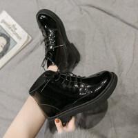 马丁靴女2019新款 百搭韩版秋季粗跟低跟马丁靴女英伦风短靴女潮