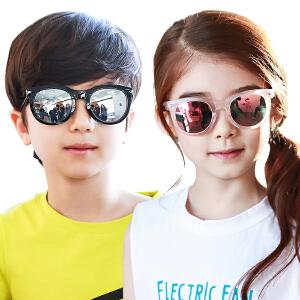 【1件9折 2件8折】kk树新款儿童眼镜男童女童太阳镜防紫外线小孩个性墨镜