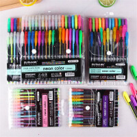 水粉笔闪光笔荧光笔彩色涂鸦笔12色24色36色48色黑卡纸DIY相册笔