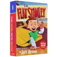 The Flat Stanley Collection 纸片人斯坦利 扁平斯丹利4本盒装 英文原版 儿童桥梁章节小说书