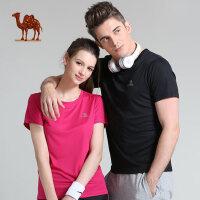 骆驼运动T恤 春夏情侣款圆领T恤吸湿速干短袖男女款T