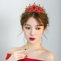 新娘头饰复古大气红色皇冠敬酒服礼服结婚