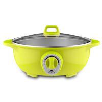 不锈钢电火锅大功率双层电蒸锅电煮锅家用小电热锅