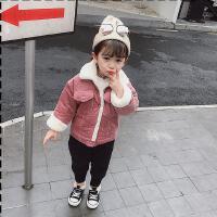 女宝宝秋冬装外套女童冬季洋气灯芯绒儿童上衣潮