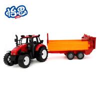 雄源仿真雄源农夫播种拖拉机 大号儿童玩具模型农夫车