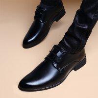 春冬秋季夏季男士休闲皮鞋英伦商务系带棉鞋子青年正装鞋简约百搭