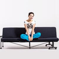大豪折叠单人床懒人床双人沙发床可移动沙发午休床多功能沙发床长190宽86高32cm