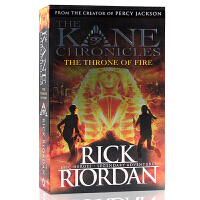 The Kane Chronicles埃及守护神系列 英文原版科幻小说 The Throne of fire火宝座 R