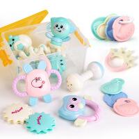 婴幼儿玩具0-1周岁手抓宝宝8软胶牙咬磨牙棒3-6-12个月可水煮摇铃