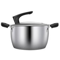 家用不锈钢汤锅加厚小火锅加深平底燃气电磁炉通用锅具汤锅