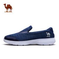 骆驼运动 2018春季 一脚套健步鞋 懒人舒适轻便时尚网面休闲鞋