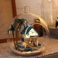 迷你玻璃球diy 小屋手工拼装建筑房子模型玩具创意生日礼物男女生