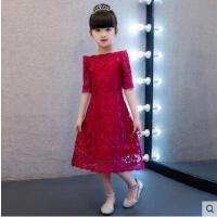 儿童小主持人晚礼服 女童公主裙 旗袍式演出服 蕾丝款公主裙