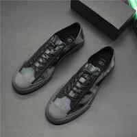 新款韩版3D印花帆布鞋男个性时尚潮流板鞋休闲鞋青少年低帮板鞋潮 39 标准运动鞋码