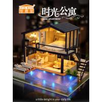 智趣屋diy小屋时光公寓手工制作创意房子拼装模型玩具生日礼物女