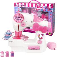 凯蒂猫Hellokitty 过家家玩具 凯啼猫迷你缝纫机儿童玩具电动手工制作DIY女孩礼物KT-8502
