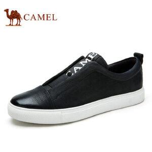 camel   骆驼男鞋夏季男士复古潮流板鞋牛皮乐福鞋休闲男