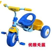 维莱 祺月儿童三轮车简易轻便脚踏车2-3-4-5岁宝宝小孩自行车婴儿童车 11214蓝色