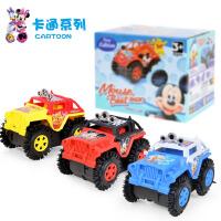 警车玩具越野翻斗车买一送一儿童电动卡通特技玩具