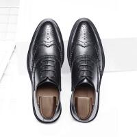 【双11大促 到手价147元】承发 商务休闲鞋布洛克男士耐磨皮鞋子男鞋 25022