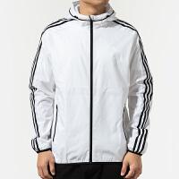 Adidas阿迪达斯男装运动防风衣休闲夹克外套EH3806