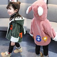 女童冬装外套洋气儿童女宝宝棉衣