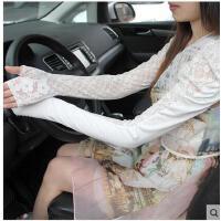 夏季新品蕾丝防紫外线长款手套女士骑行半指防晒防滑袖套