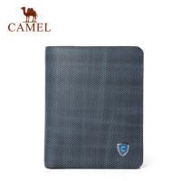 Camel/骆驼钱包男士真皮短款钱夹青年竖款牛皮皮夹男正品男版卡包