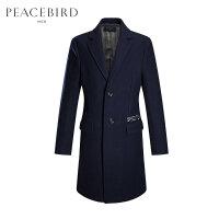 太平鸟男装 男士冬季羊毛大衣商务时尚修身毛呢大衣翻领外套潮流