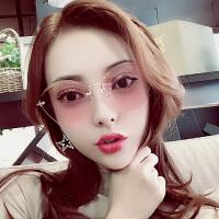 个性前卫无框太阳镜小框潮网红明星款墨镜女时尚太阳眼镜