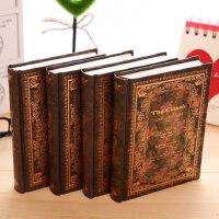 金谷古花圆背笔记本子欧式复古牛皮纸硬抄本创意古典记事本日记本