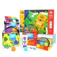 手指画颜料儿童可水洗宝宝幼儿画册涂鸦画画水彩绘画套装