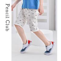 【抢购价:35.7元】铅笔俱乐部童装男童中裤子薄款2021夏装新大童五分裤舒适透气印花