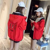 韩版春秋季新款两面穿夹克宽松短外套女装bf原宿风学生棒球服2018新品