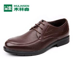 木林森男鞋 新款男士商务休闲皮鞋 时尚简约男皮鞋05367125