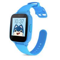 糖猫儿童电话手表GPS智能定位M1 通话手环学生手机插卡触摸屏 深蓝