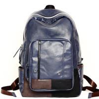 双肩包男士背包学生书包旅行包皮电脑包
