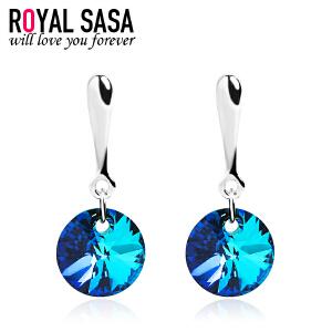 皇家莎莎耳钉耳坠 日韩国版时尚气质简约仿水晶耳饰品情人节礼物