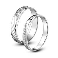 韩版潮人男士指环S925银戒指情侣对戒女戒指饰品 情人节礼物