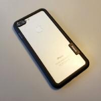 iphone6s手�C�ぬO果7plus�框X硅�z�XS防摔磨砂8保�o套XR超薄Max i7/8 4.7寸黑色�框加前后膜