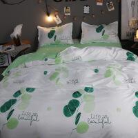 【人气】床上四件套ins风少女心单件床单被套大学生宿舍单人三件套1.2米3【】