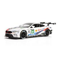 合金车模宝马M8GTE跑车勒芒赛道 仿真汽车模型儿童玩具小汽车