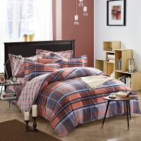 全棉加厚磨毛四件套 婚庆四件套纯棉床上用品秋冬被套保暖床单结婚床上用品