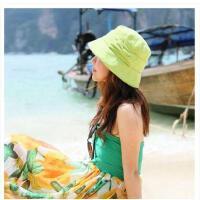棉麻渔夫帽度假盆帽 休闲女韩版帽子女士夏天遮阳帽太阳帽
